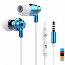 Buy Metal Stereo Bass Earphone Headphone Headset Mic Volume +/- number iphone Samsung Xiaomi Sony gift M-300 for $4.49 in AliExpress store