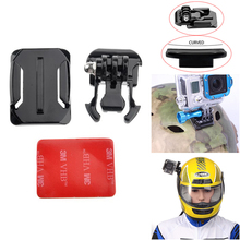 Helmet Curved Surface + Mount Black + 3m VHB Sticker For Xiaomi Yi  SJCAM SJ4000 SJ5000 WIFI/SJ5000 PLUS GOPRO Hero 4/3+/3/2/1