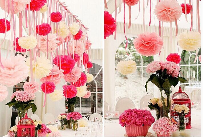 10/ lot 12 inch(30cm)Paper flower ball Birthday Wedding Party Christmas decorations - Wind Chang online store
