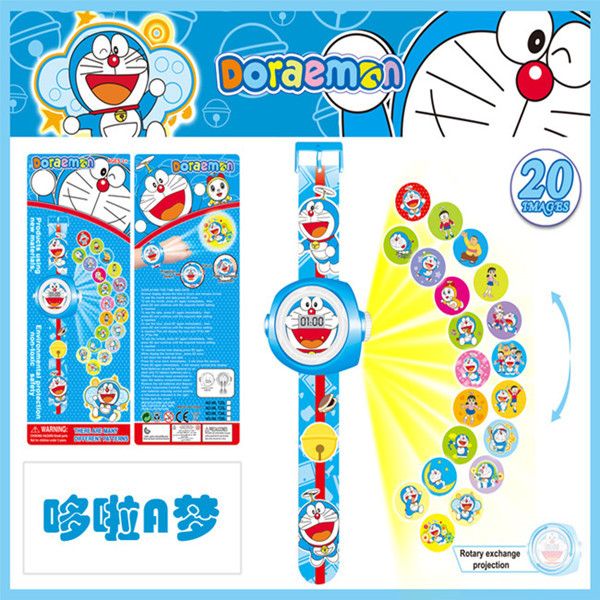 1PCS 10 Styles 2016 Newest TMNT Toys Children Projection Doraemon Spiderman Minions Watch 20 Images LED Digital Watch Kids Gifts