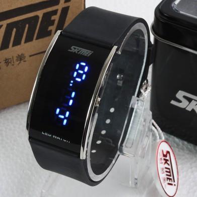 Authorized certificate warranty ! skmei led watch waterproof watch lovers watch