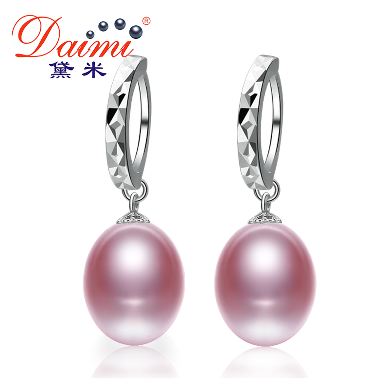 Natural Freshwater Pearl Earrings Drop Earrings, 9mm Pearls Jewelry For Women Summer Style Pearl Dangle(China (Mainland))