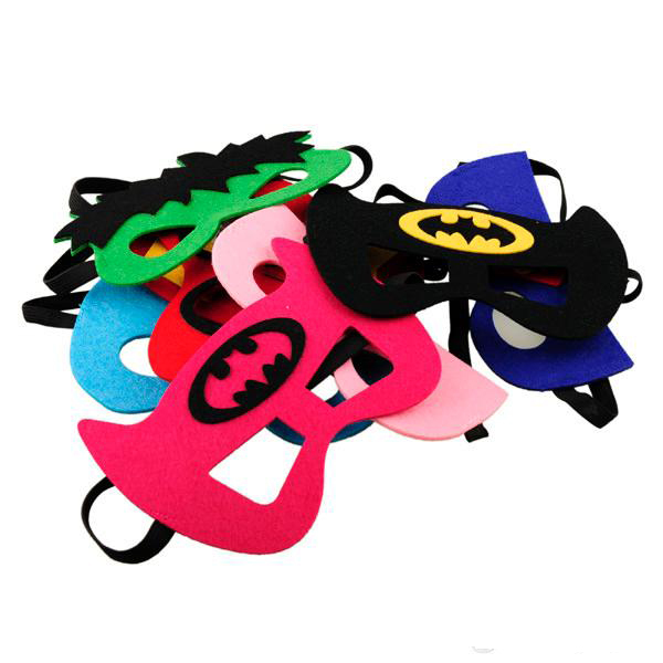 2015 Superhero masks - superhero mask Superman Batman Spiderman TMNT for Kids Party Costume super hero G057(China (Mainland))