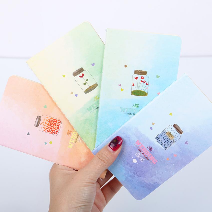 1pcs мини милая новизна Луны Звезда Вселенной Блокнот Блокнот дневник написания бумаги меморандум школьные принадлежности