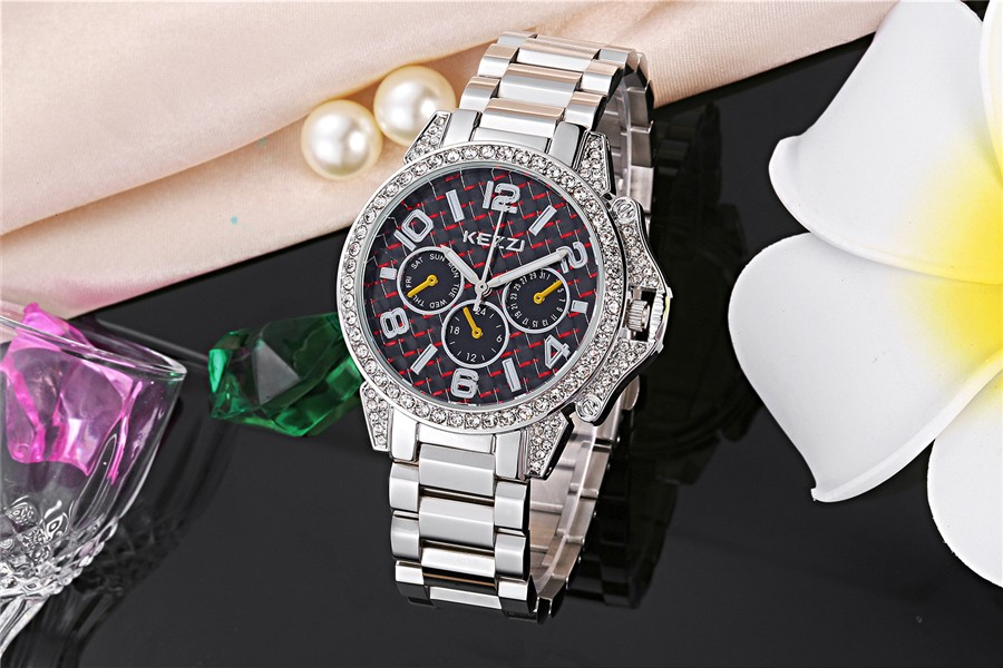 relojes mujer 2016 watch woman luxury brand KEZZI quartz watch full stainless steel belt fashion bussiness wrist watch k1200