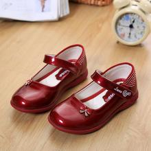 2016 Designer Bowknot Chaussure enfant Princess Patent Leather Kids Shoes Girls Shoes, Children Sneaker Girl Shoes .(China (Mainland))