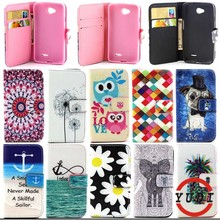 Fashion Print Flip Wallet Leather Case cover for LG L70 L65 D320 W5 Dual D325 MS323 D329 D320N D285 D280 L 70 phone cases Y4D69D