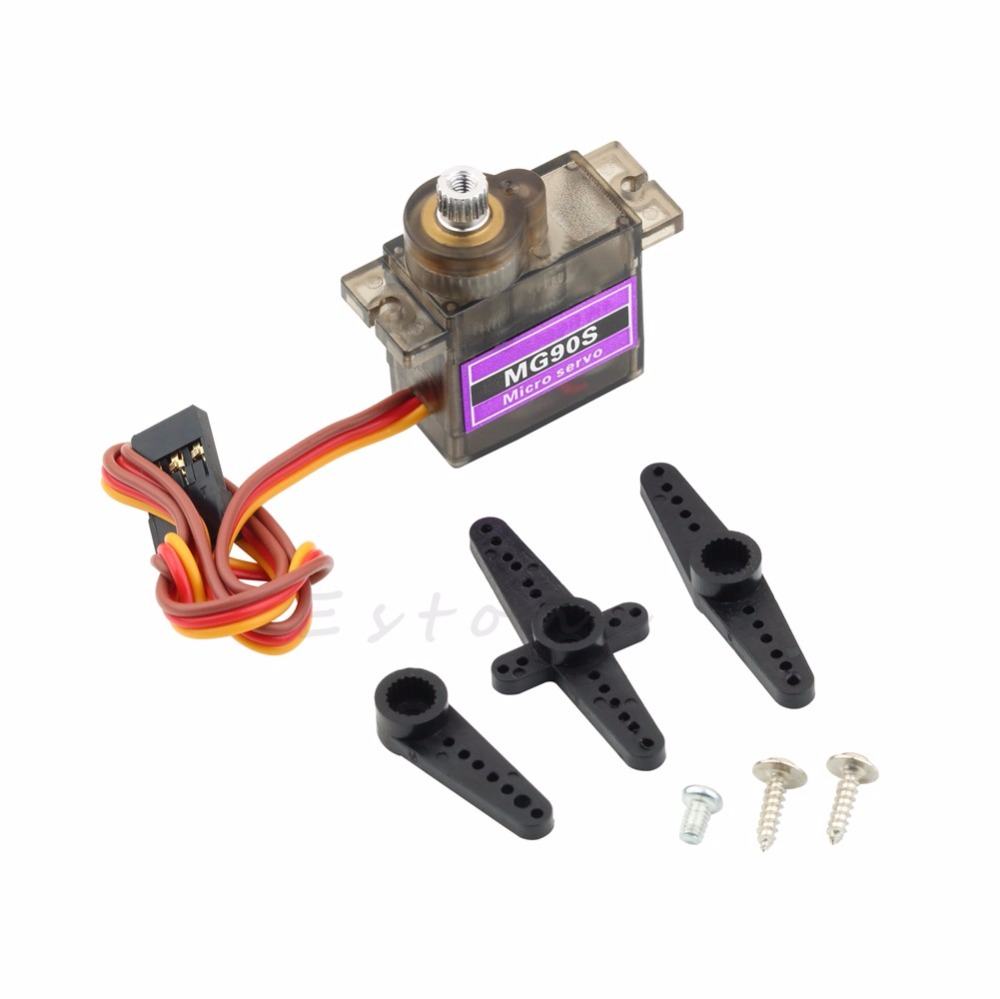 New MG90S Gear Metal Servo Micro Servo For Boat Car Plane Helicopter(China (Mainland))