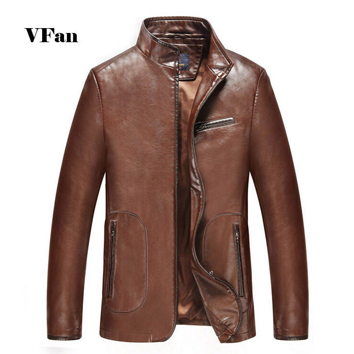 Men Stand Collar High Quality Jackets 2015 New Arrival Autumn Fashion Casual Genuine Leather Jackets For Men Hot Sale E1617(China (Mainland))