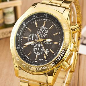 2015 quartz gold watch men luxury brand top rose golden watches women ladies female clock male famous casual fashion wristwatch(China (Mainland))