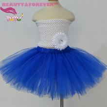 Elegant royal blue 1st birthday tutu skirt 12M to 8T