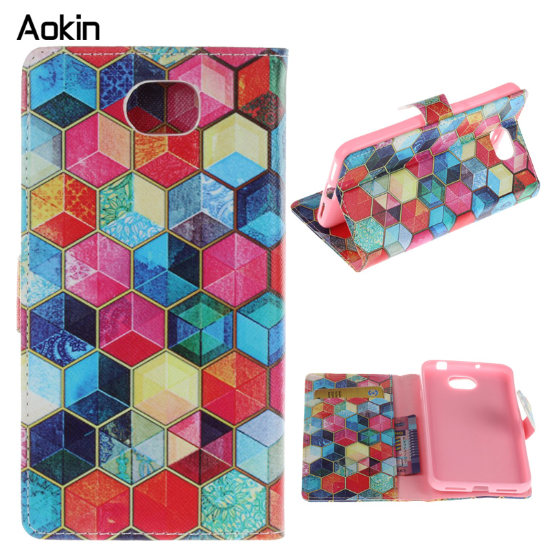 Aokin fashion Luxury Phone Case For Huawei Y5 2 Phone With Stand Wallet PU Leather Flip Cover Cases For Huawei J7 J2 J3(China (Mainland))