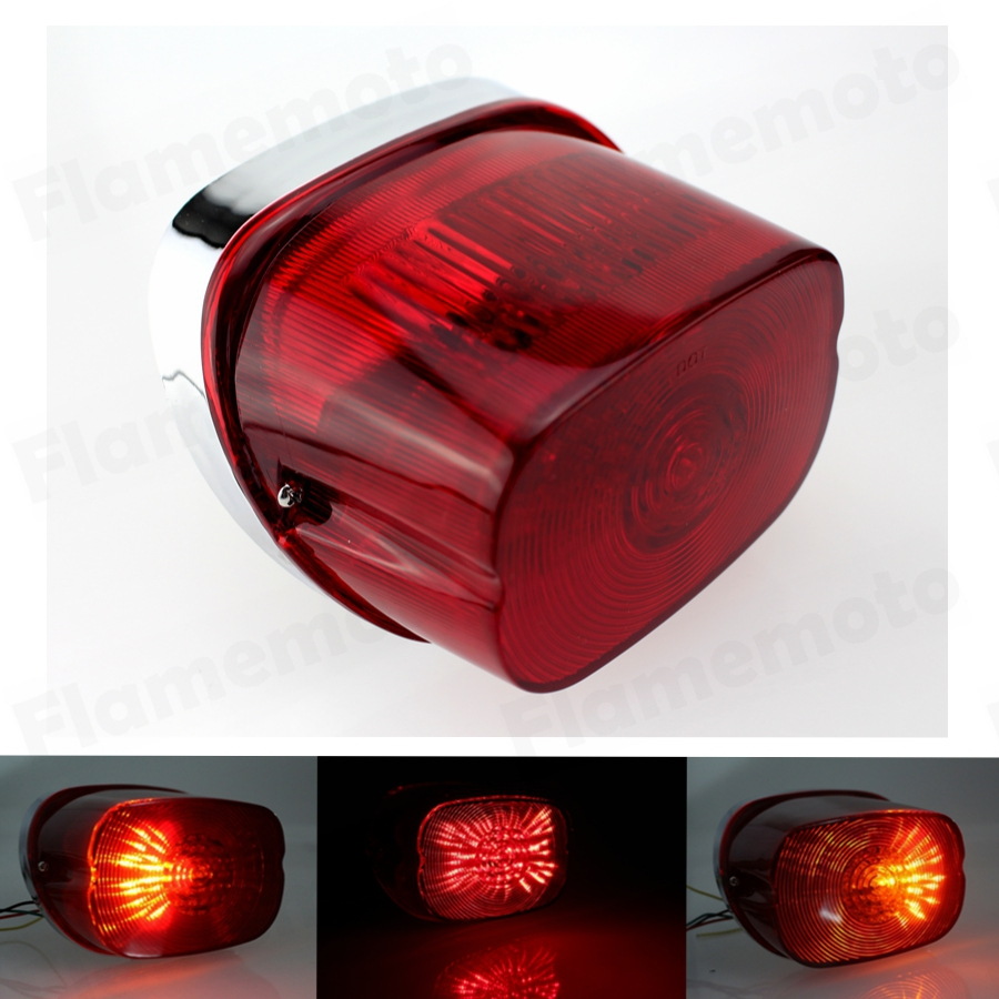 Red LED Tail Brake Light Lamp Harley Electra Glide Sportster Road King 2003- - guangzhou quality motorcycle parts Co.,ltd. store
