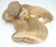 8 pcs blonde natural straight Brazilian virgin human hair extension(China (Mainland))