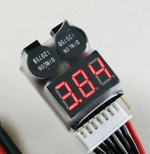 LED 1-8S LiPO Battery Voltage Tester/ Low Voltage Buzzer Alarm (1S support 3.7-30V(Hong Kong)