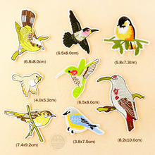 8pcs/lot Bird DIY Iron On Patches Cartoon Badges Clothe Embroidery Patch Applique Ironing Clothing Sewing Supplies Decorative(China (Mainland))