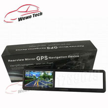 4.3 Inch Rearview Mirror Gps Navigator Built-in Car GPS navigation MTK Wince6.0 DDR128M 4G Free Map 2015 Freeshipping