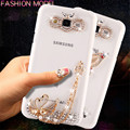Handmade Luxury Girl Bling Crystal Rhinestone Hard PC Case Cover For Samsung Galaxy J1 J1 mini