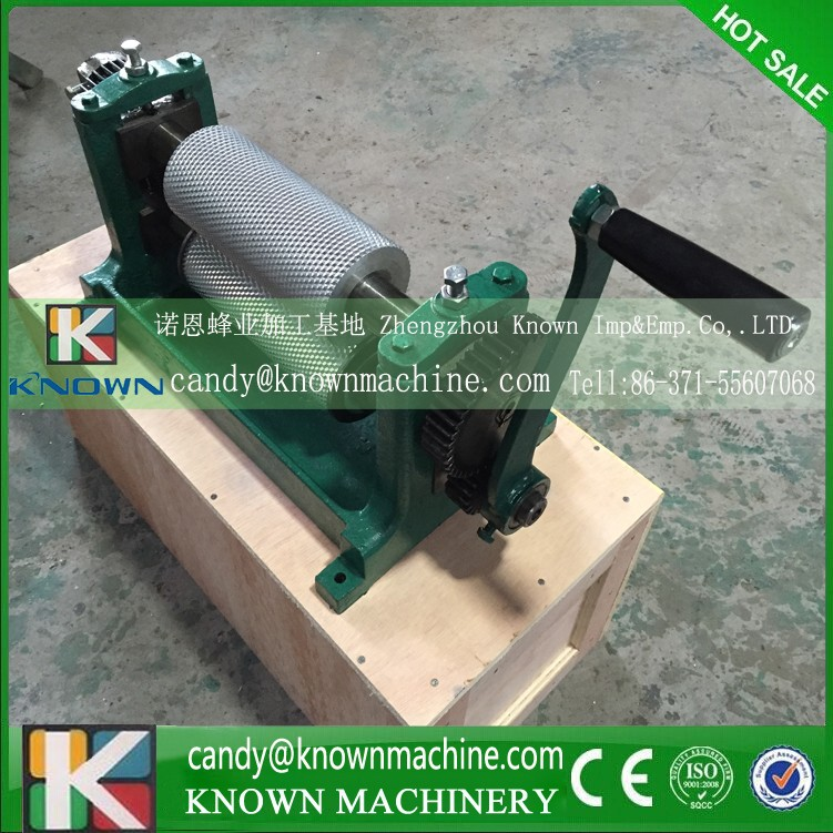 86*195mm Manual beeswax foundation roller machine for bee wax, beeswax press machine
