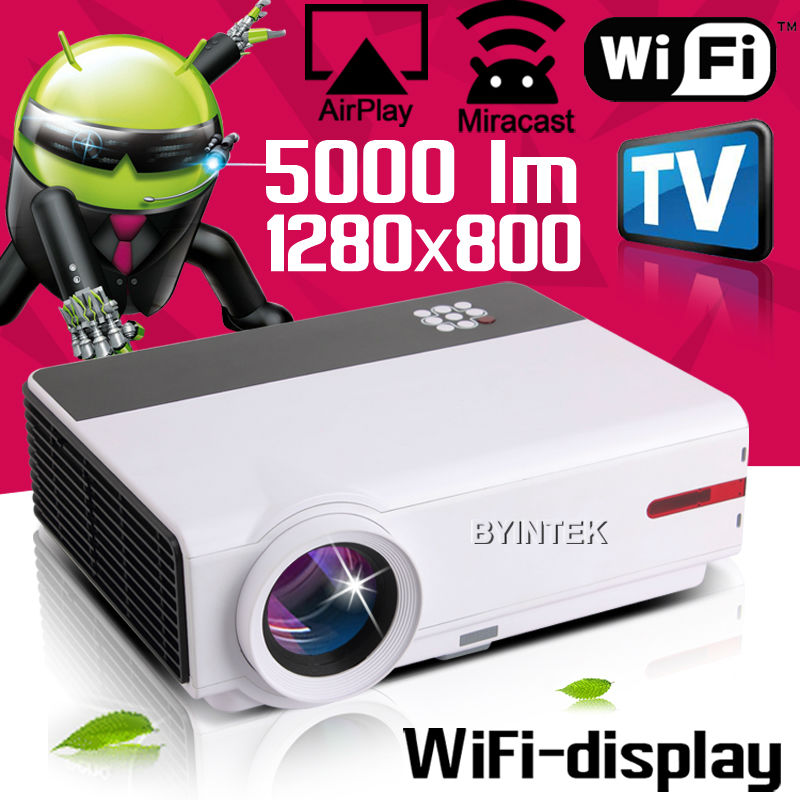ATV Android OS 4.4 Wifi Newest Movie Film Cinema Home Theater Wireless Smart 1080P Video HDMI LCD fuLL HD LED Projector TV(China (Mainland))
