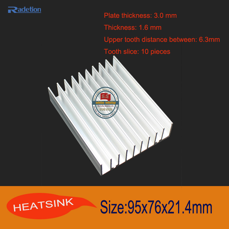 95x76x21.4mm Aluminum radiator radiator aluminum radiator panels CPU GPU LED Heat Sink Cooler cooling(China (Mainland))