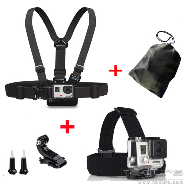 Электроника Hapurs gopro , + j + HD Hero 4 3 + 3 2 SJ4000 xiaomi yi gopro chest head belt