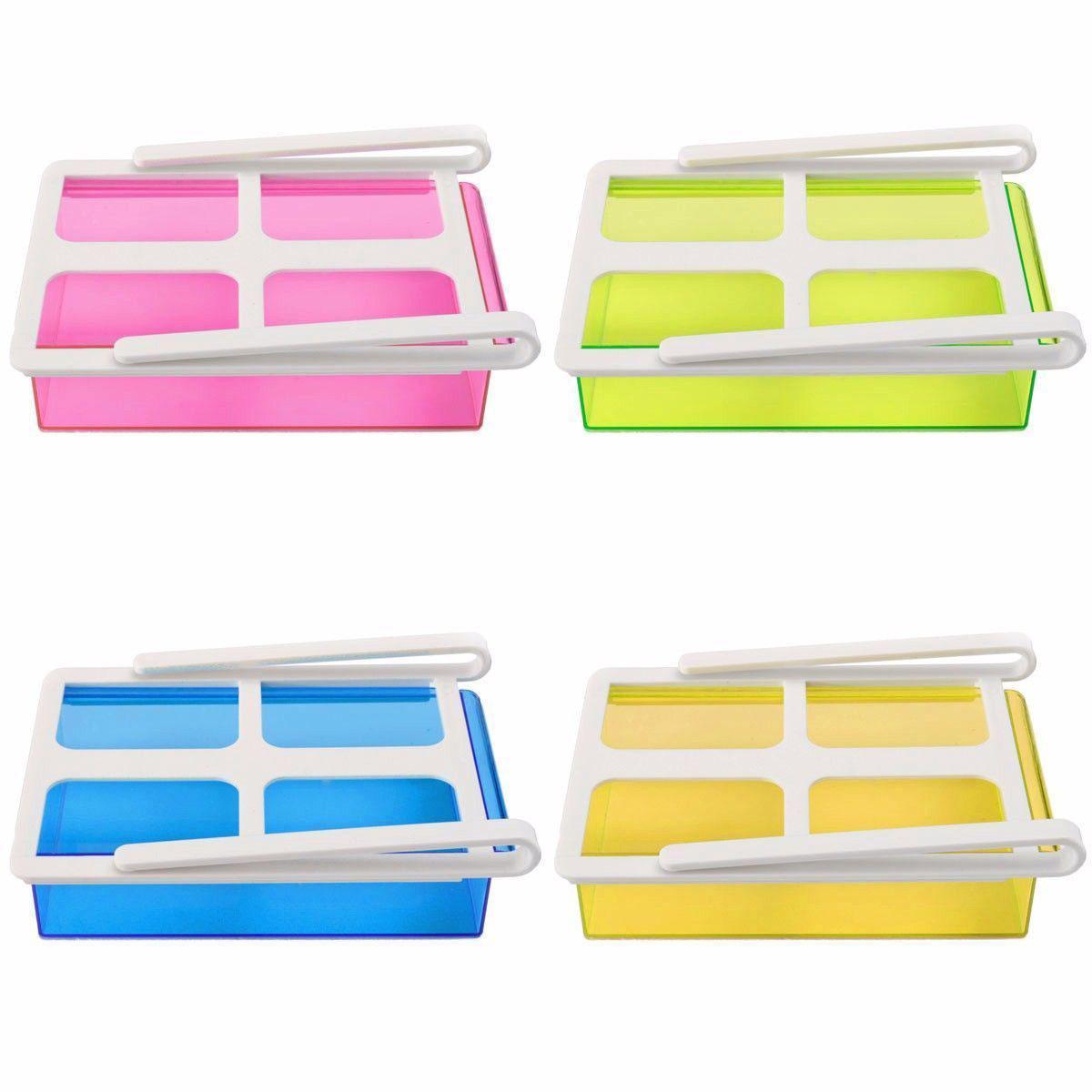 Slide Fridge Freezer Organizer Refrigerator Storage Rack Shelf Drawer 4Color(China (Mainland))