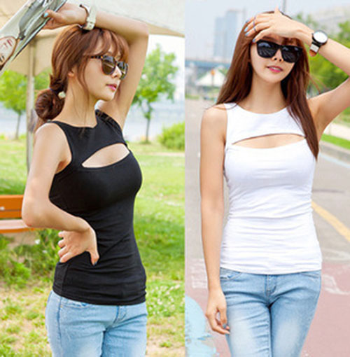 Brand new 2015 summer tank top fashion sleeveless fitness camisole casual women's tanks tops burst chest - EFChina store