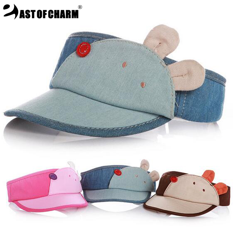 Very Cute !! 2016 New Fashion Bear Shape Empty Top Baby Baseball Cap For Boy Cap Girl Hat Kid Cap Summer Mesh Sun Hat(China (Mainland))