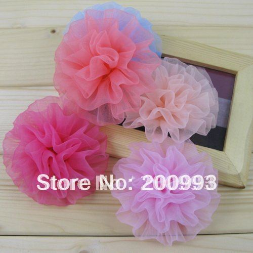 """20pc/lot 3.5"""" Pink Flower Hair clips accessories handmade kid's Girl's hair bows Boutique Barrette FL011"""