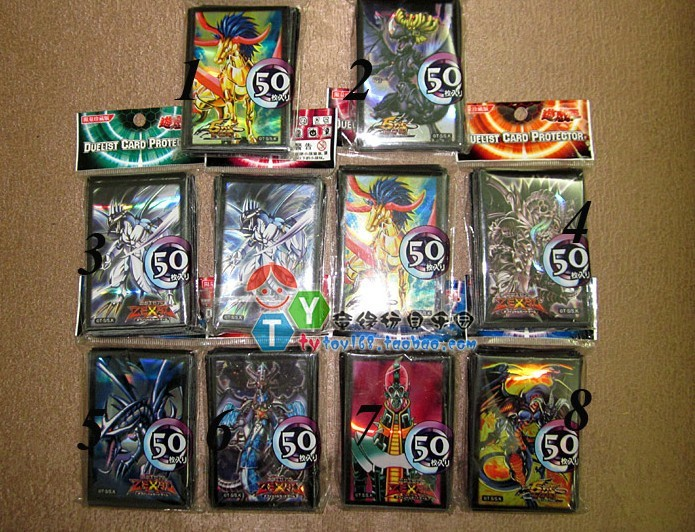 Yu-Gi-Oh card Sleeves protective sleeve Yu-Gi-card package book thicker color pattern 50pcs/bag - Desheng (HK store Trading Co., Ltd.)