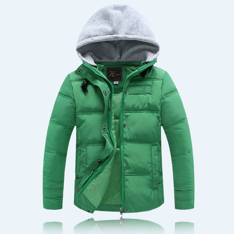 Boys Girls Cotton Padded Jacket Hooded Patchwork Zipper Casual Sports Coat Outwear 40 - Yiwu Superfashion Baby E-commerce Business Firm store