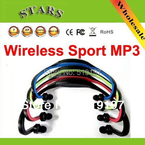 Wholesale free shipping the new fashion with the IF card wireless sport mp3 for people do exercise convenience and fell relax.(China (Mainland))