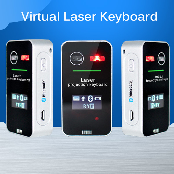 Full Size Wireless Bluetooth Virtual Laser Projection Keyboard English Ultra Portable Mini Keyboard For phone with LED screen(China (Mainland))