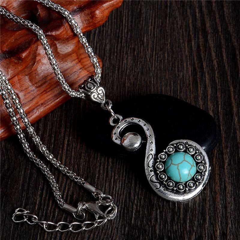 Party Jewelry Swan Turquoise Silver Pendant Necklaces Crystal Chains Necklaces bijoux Necklaces & Pendants for Sweater(China (Mainland))