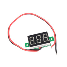 Mini DC 2.5-30V Red LED Panel Voltage Meter 3-Digital Display Voltmeter  E1Xc