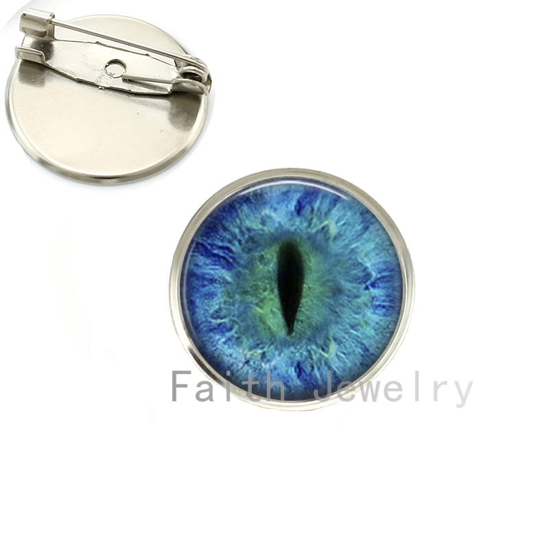 Wholesale stylish colorful Dragon Cat Eye brooches charm Green Blue or Purple animal Vertical pupil eyes image brooch pins NS069(China (Mainland))