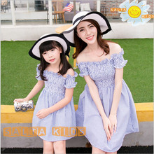 2016 NEW Baby&Mom Dress,Girl Dress,Women Kids Clothes Sets Family Look Clothing Family Matching Outfits YKK02