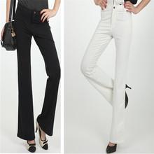 free shipping 2011 spring slim cotton casual pants women's bell-bottom long(China (Mainland))
