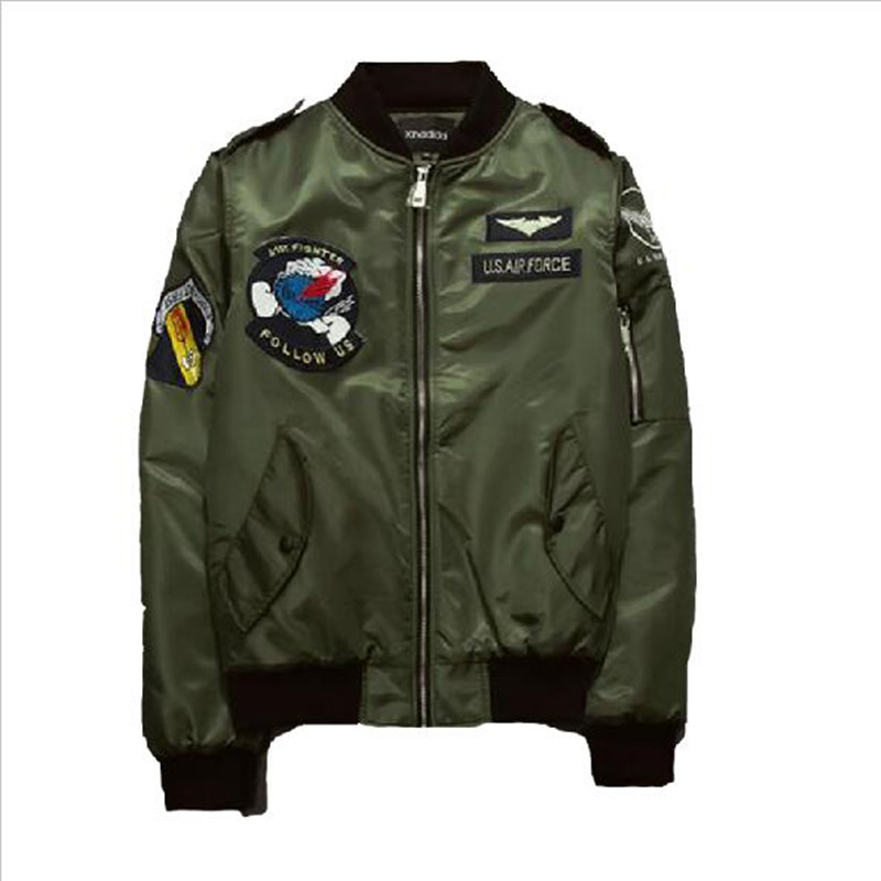 2016 New Brand Spring Pilot Jacket Men Tactical Coat Zipper Cardigan Military Style Bomber Flight Windbreaker Jackets Coats T250(China (Mainland))