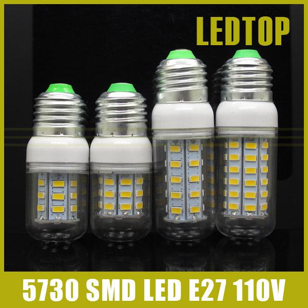 led bulb 220V E27 9W 12W 15W 25W SMD 5730 110V 127V lights 36LEDS 56LEDs Corn Bulbs lamp Energy Efficient Lampada - Shenzhen Ledtop Technology Co., Ltd. store
