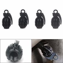 4 Pcs/LOT Car Truck Motorcycle Bike Grenade Aluminum Tire Wheel Valve Stem Caps VE390 P18 0.2(China (Mainland))