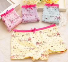 Buy Baby children panties girls briefs soft 95% cotton child underwear cartoon 4 color bow kids boxers underpants 2-10years for $8.93 in AliExpress store