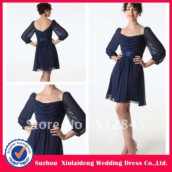 YD 12061174 Navy Blue Casual Chiffon Wedding Guest Dress In Evening Dresses From Weddings