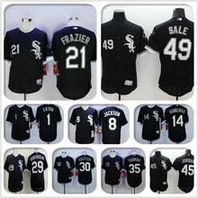 2016 Chicagos #21 Todd Frazier baseball jersey Elite black shirt #29 Jeff Samardzija #49 Chris Sale stitched jersey(China (Mainland))