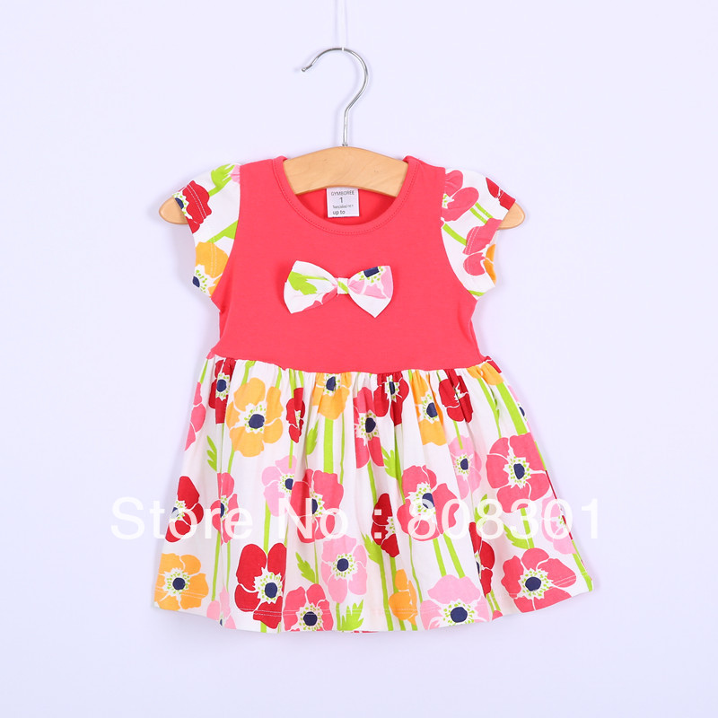 Nova Kids wear girls lovely dress dresses cotton baby spring summer printing