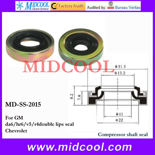 High quality MD-SS-2015 Compressor Shaft Seal For GM da6/hr6/v5/r4double lips seal Chevrolet(China (Mainland))