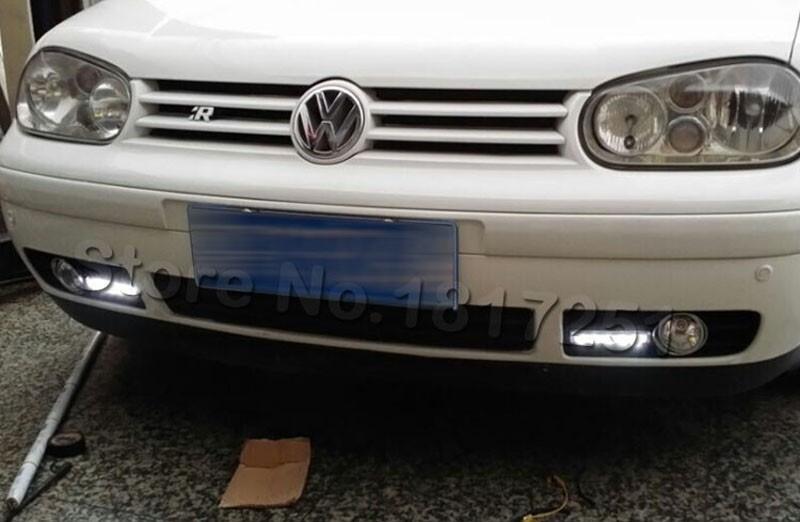 Bumper Grille Grill DRL daytime running LED fog lamp lights for VW golf MK4 1997-2006 original position car Accessories