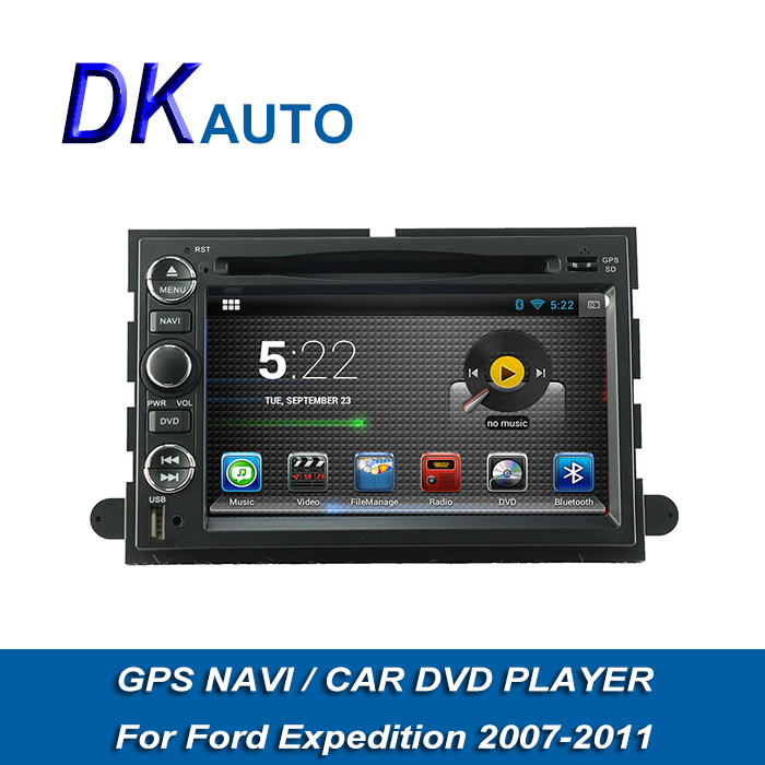 "2 Din 7"" Android Car Audio For Ford Expedition Dual Core A9 1.6GHz Car Stereo With DVB-T GPS Navi Wifi RDS Music SWC 3G Radio(China (Mainland))"