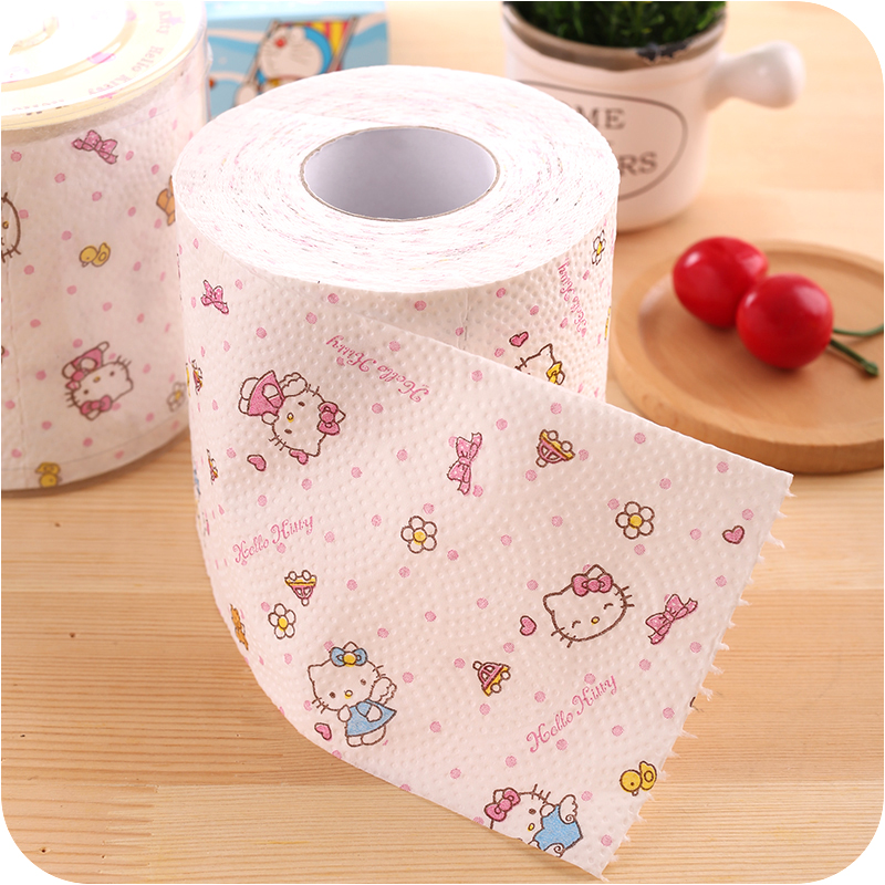 2packs 60m Hello Kitty Design Printing Toilet Paper Toilet